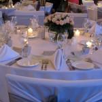 Black Swan Winery Restaurant Wedding table settings