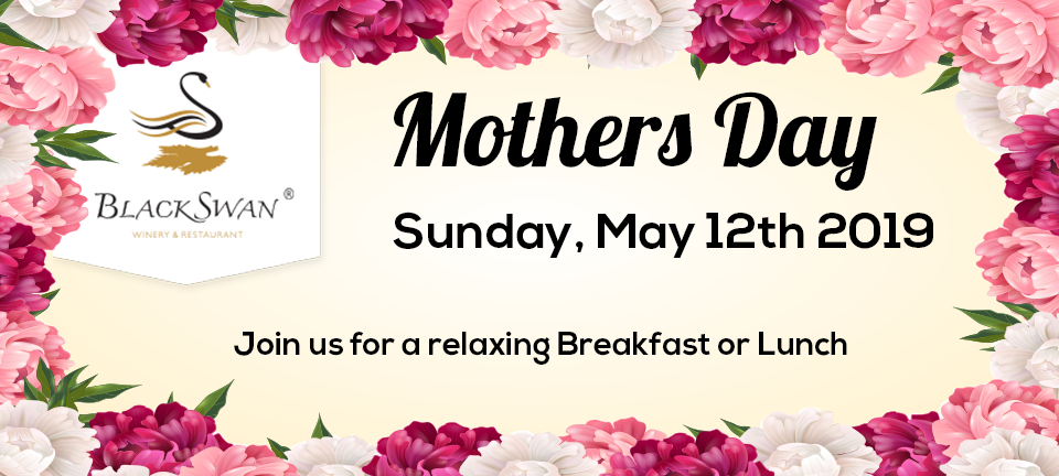 Black Swan Winery Mothers Day main banner